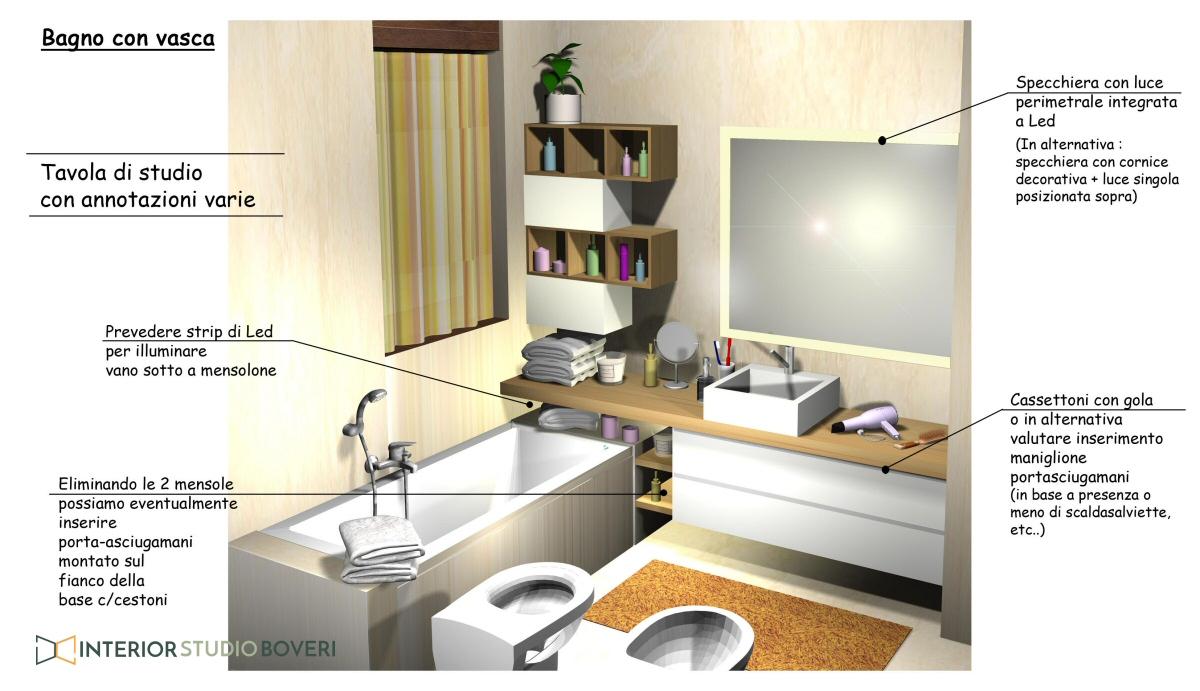 Arredamento bagno 02 bagno con vasca - Interior studio Boveri