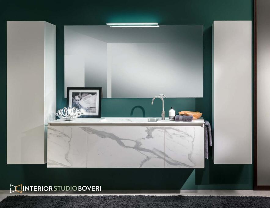 Arredamento bagno 04 hpl calacatta laccato bianco - Interior studio Boveri
