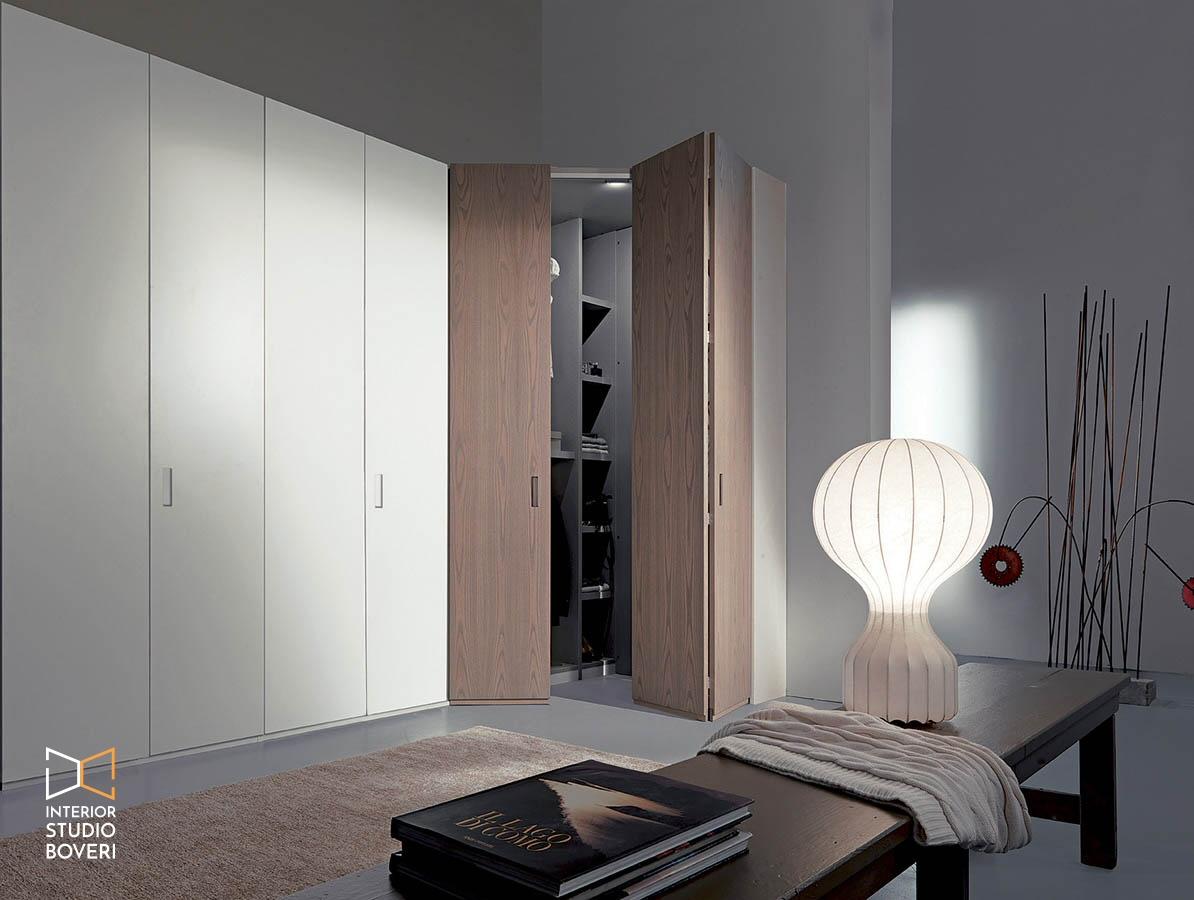 Arredamento camera 04 angolo cabina - Interior studio Boveri