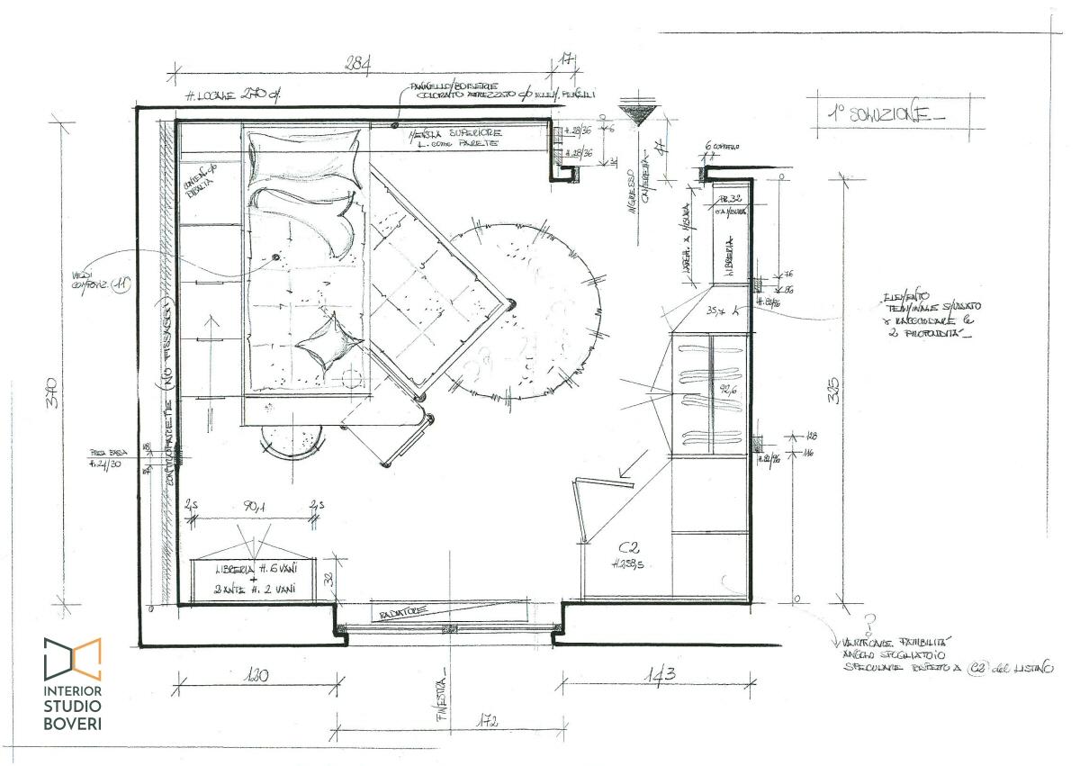 Arredamento cameretta 01 pianta cameretta - Interior studio Boveri