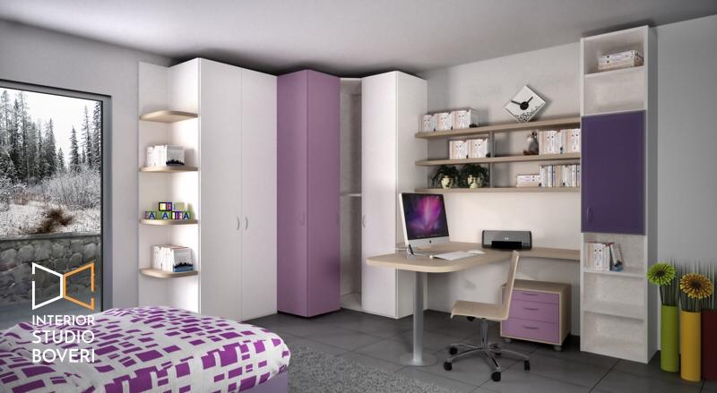 Arredamento cameretta 04 cameretta - Interior studio Boveri