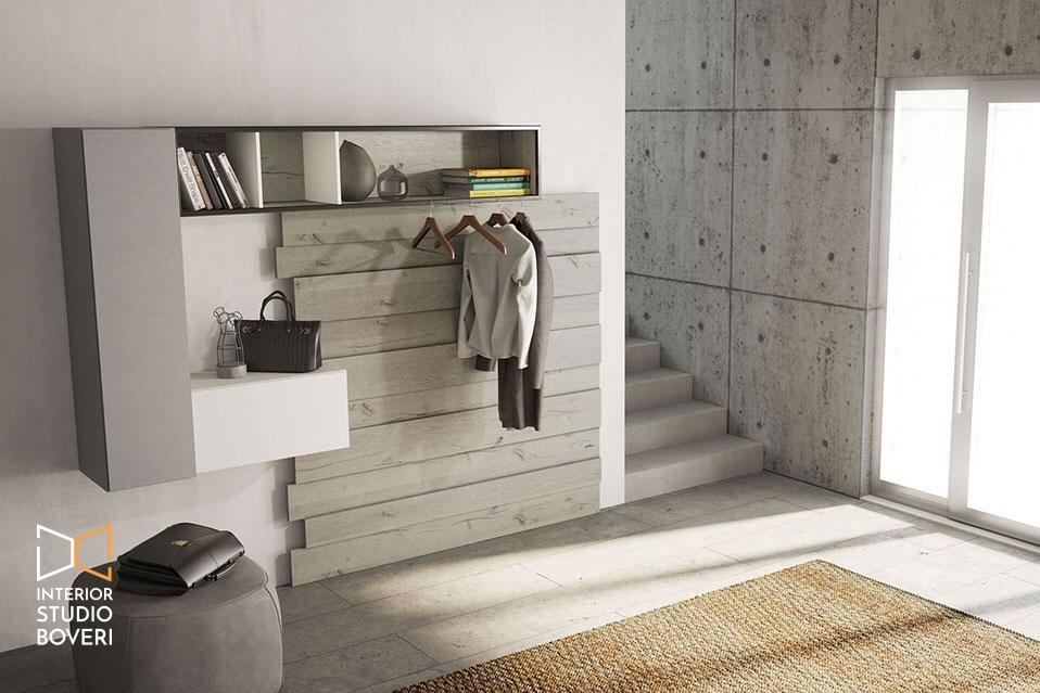 Arredamento ingresso 01 rebel quercia 50c composizione cenere laccato inverno opaco - Interior studio Boveri