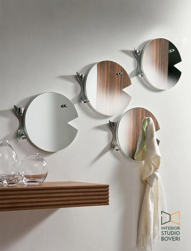 Arredamento ingresso 03 fish specchio appendiabiti - Interior studio Boveri