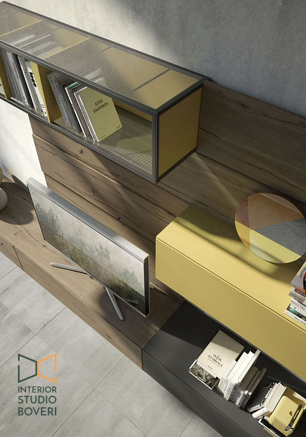 Arredare stile industriale 05 rebel quercia 75G composizione zolfo lavagna - Interior studio Boveri
