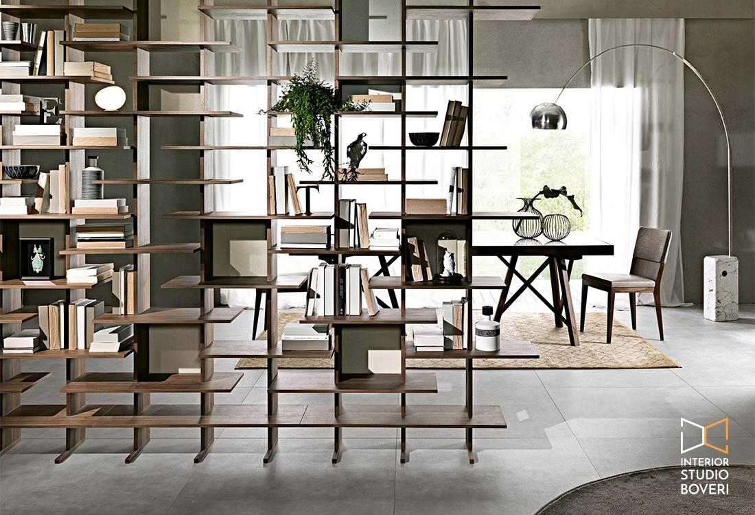 Complementi 03 libreria elisabeth bifacciale - Interior studio Boveri