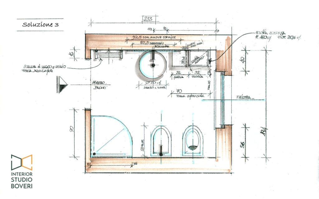 Preventivo bagno 05 pianta bagno - Interior studio Boveri