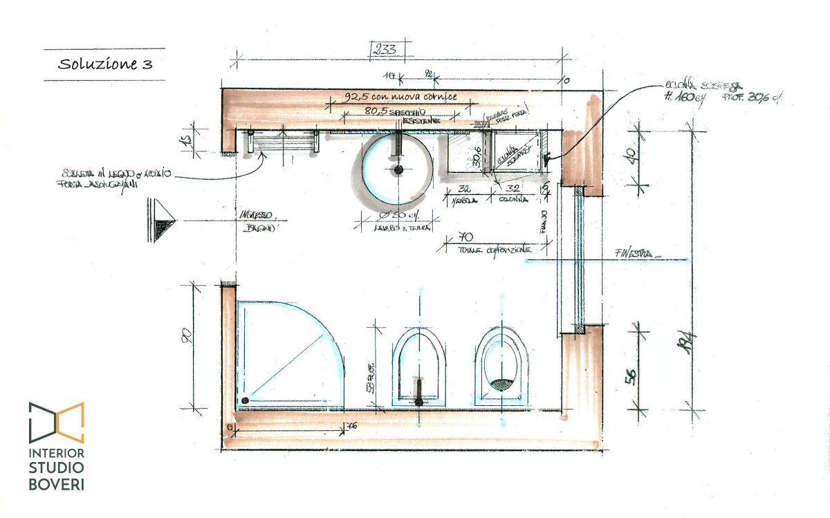 Beautiful pianta bagno images idee arredamento casa for Monolocale dwg