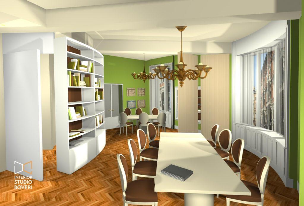 Preventivo ufficio 04 render ante aperte - Interior studio Boveri