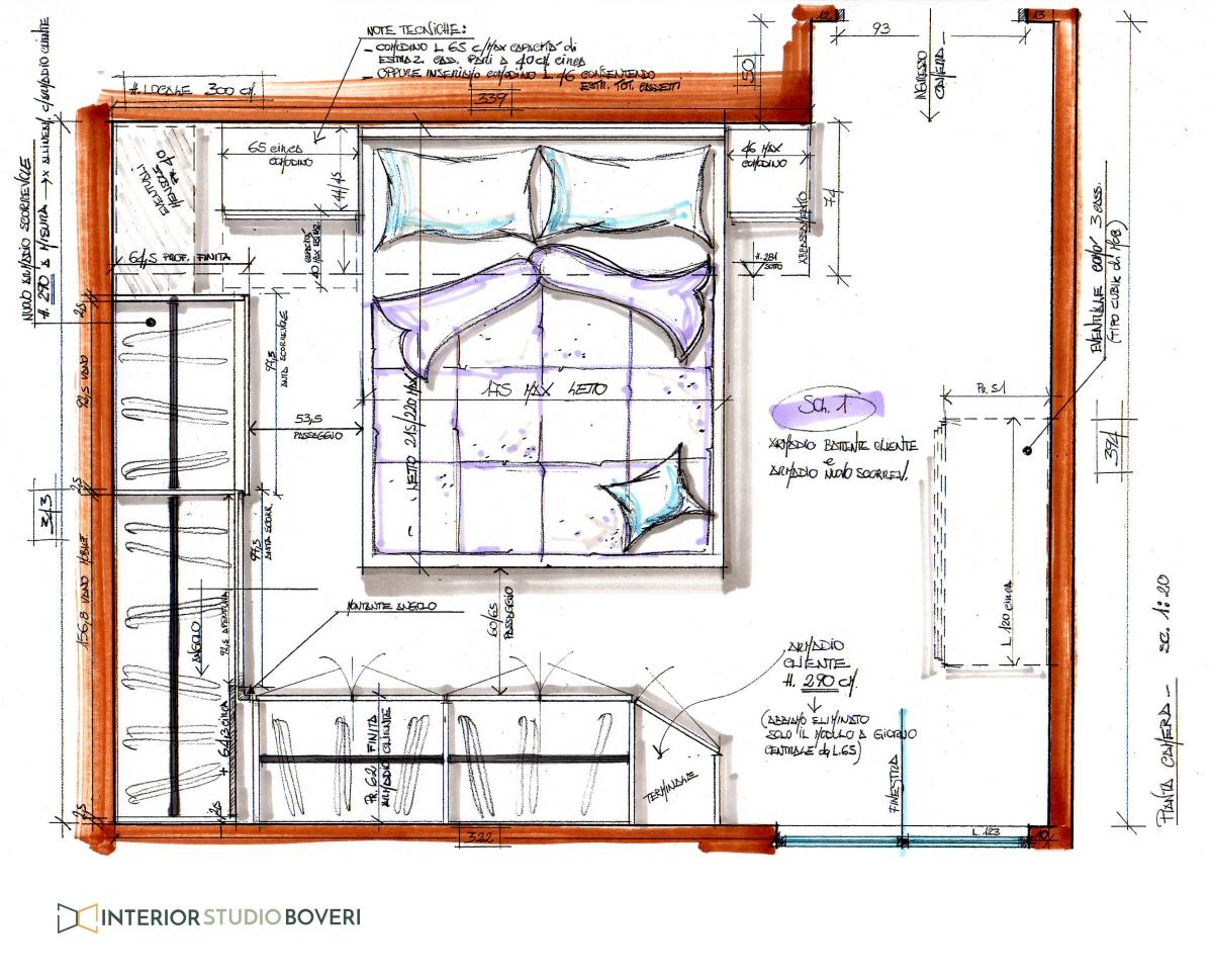 Prospettiva di una camera da letto cameretta luigina di for Progettare una camera da letto