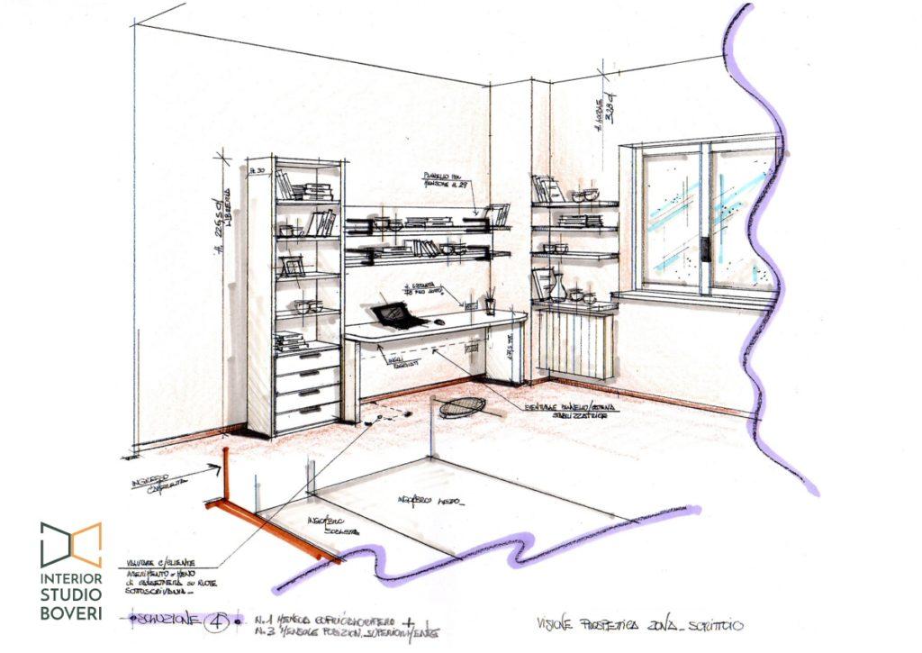 Relooking cameretta 05 prospettiva cameretta - Interior studio Boveri