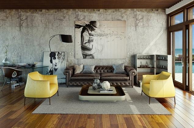 Urban Chic Carta Da Parati Industrial Chic.Lo Stile Urban Chic Nell Interior Design