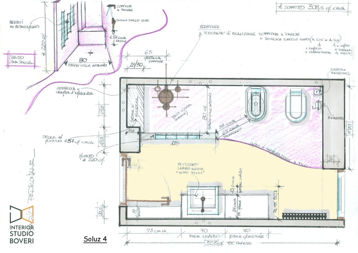 bagno piccolo planimetria ~ Comarg.com = Interior Design ed ...