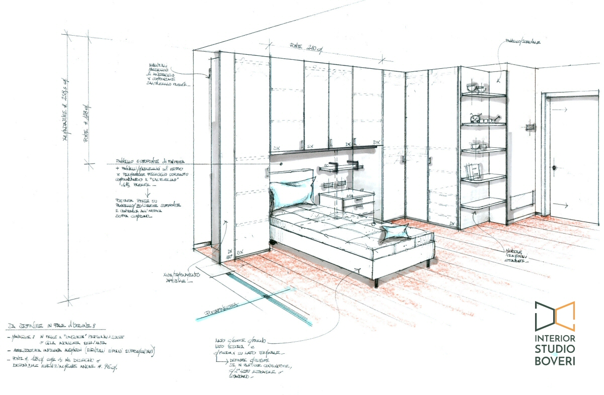 Preventivo progetto arredamento su misura case appartamenti for Disegni casa 4 camere da letto
