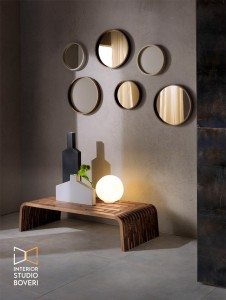 arredamento-ingresso-04-oblo-specchio-cornice-e-panca-in-massello-legno-interior-studio-boveri
